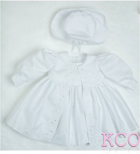Diamante Coat & Dress White~ Girls Dress